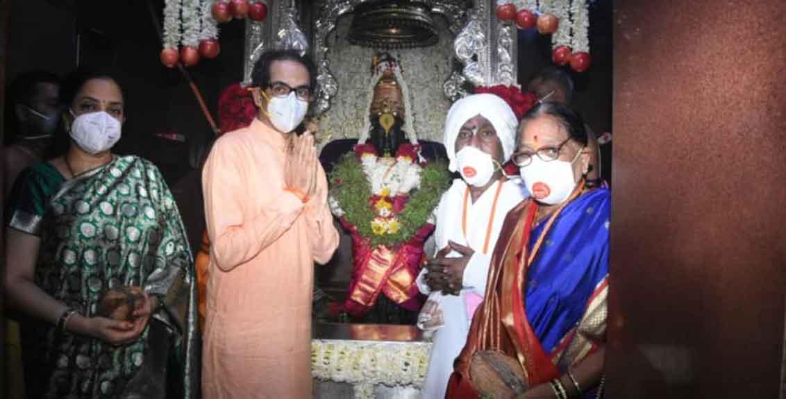 Chief Minister Uddhav Thackeray in Pandharpur