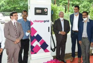 The largest EV charging station in the country in Navi Mumbai