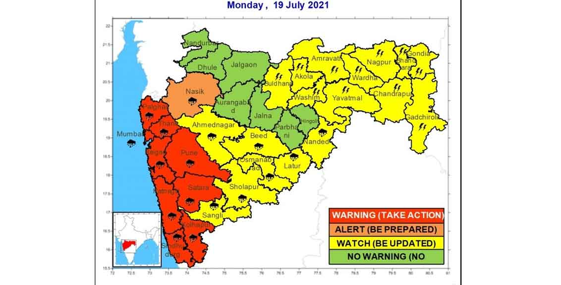weather alert today red alert to 9 districts in the state