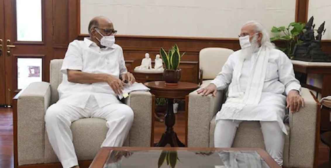 Sharad Pawar meet with PM Narendra Modi in delhi