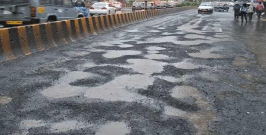 road damage due to heavy rainfall in maharashtra