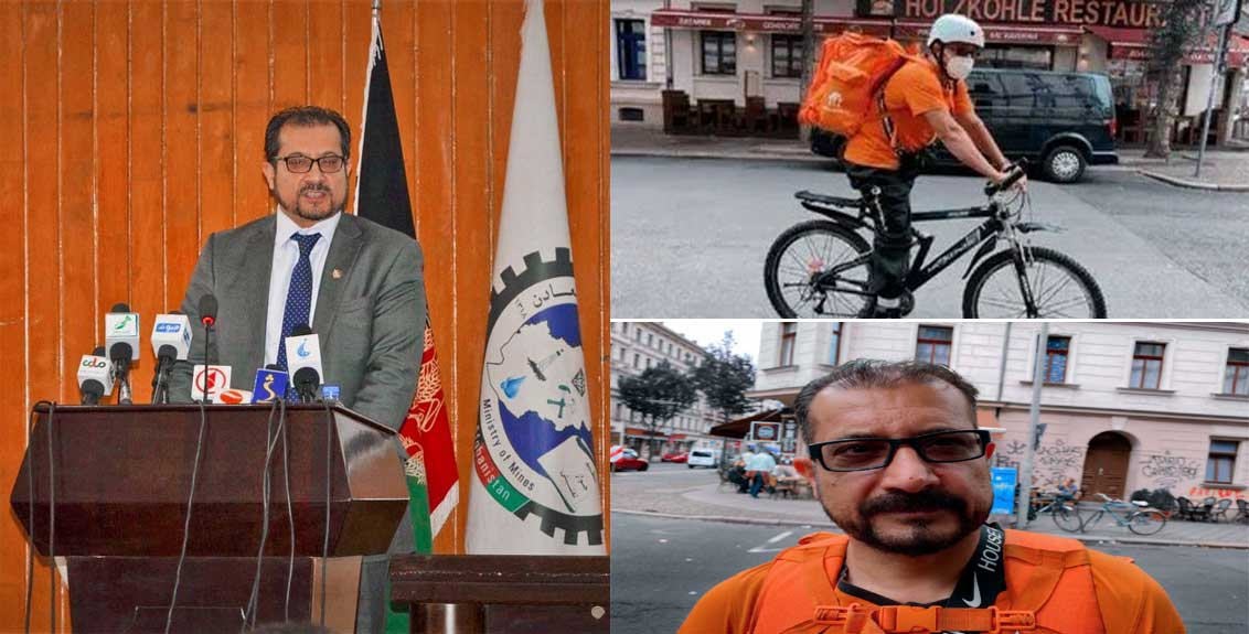 Afghan IT Minister Sayyad Ahmad Shah Saadat Is delivering Pizza In Germany