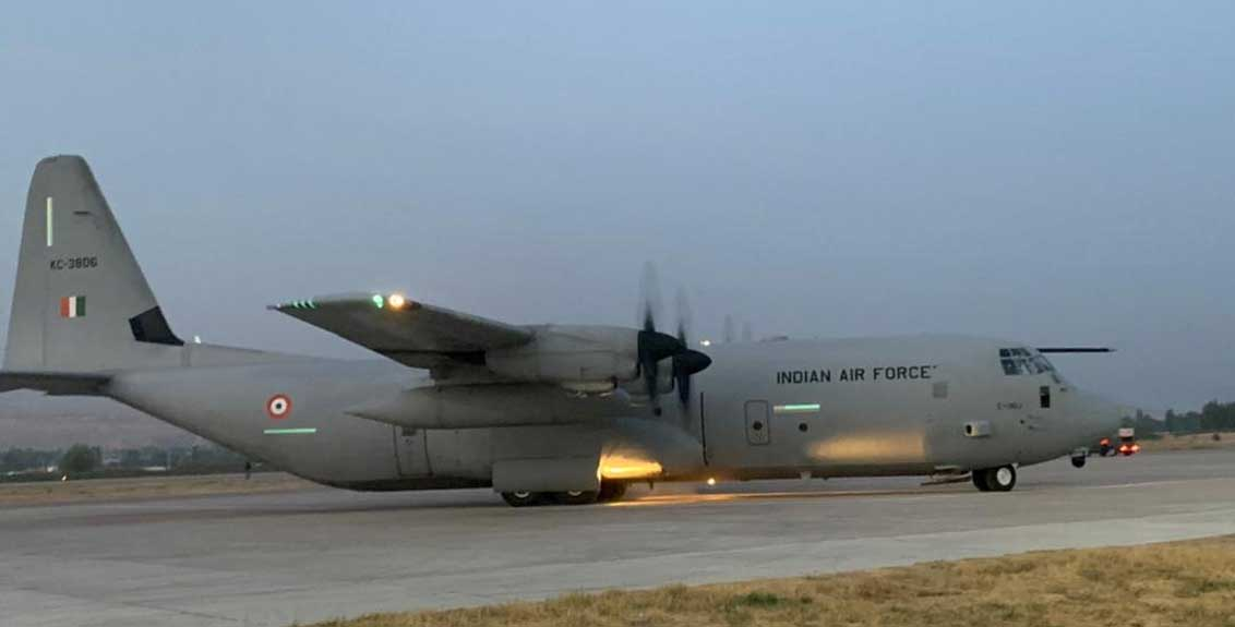 Air Force plane reached Hindon airbase carrying 168 people from Kabul