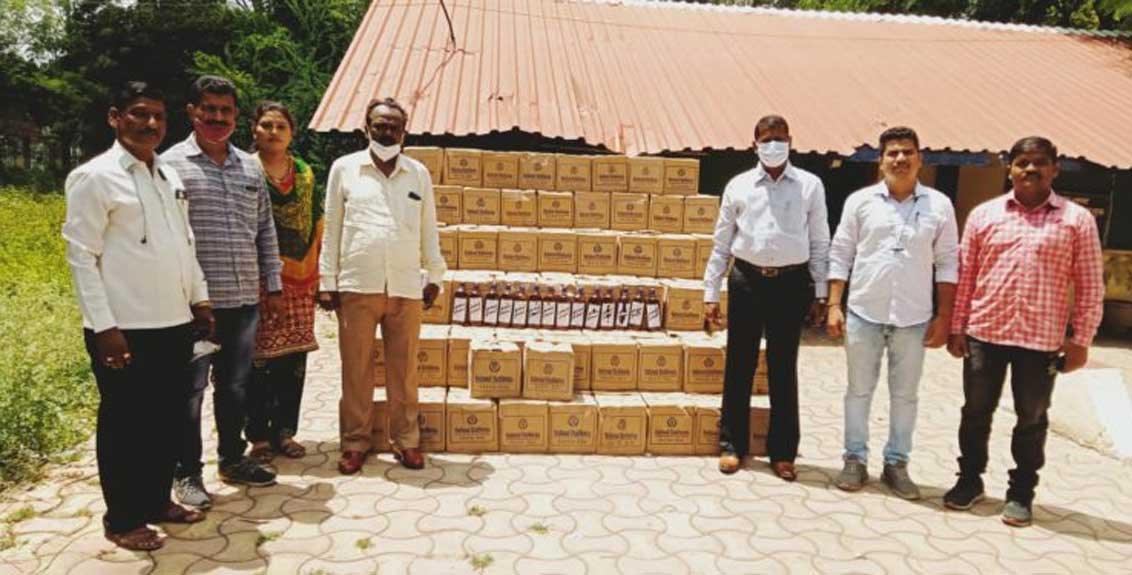 Goods worth Rs 18 lakh 80 thousand including liquor seized from state excise department