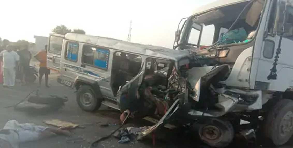 A tragic accident near Sribalaji in Nagaur in Rajasthan, 12 Killed And 6 Injured