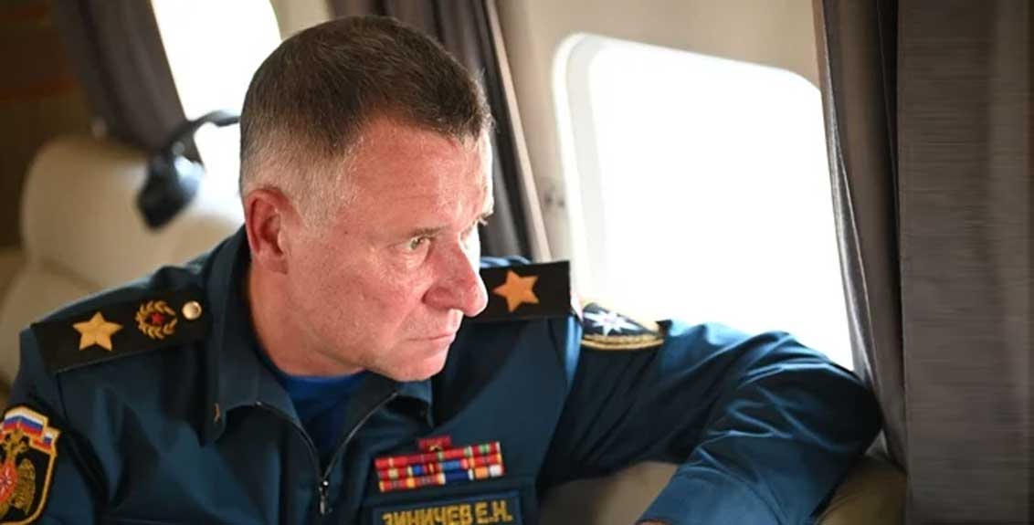 Russian Emergency Minister Zinichev dies while saving a person's life during drills